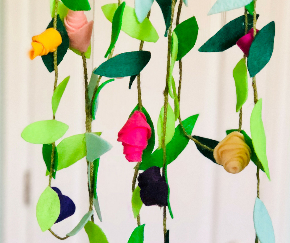 Diy Felt Flower Garland Lost Momdiy Felt Flower Garland