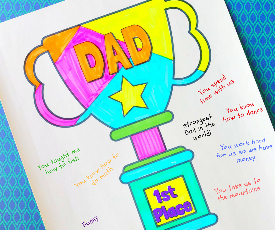This Fathers Day Coloring Page For Kids Is A Great Way To Let Get Creative And Show Dad How Much He Means Them The Perfect Time